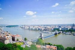 Overlooking the Danube in Budapest