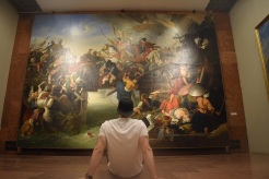 At the national gallery in Budapest meditating on historical Hungarian art